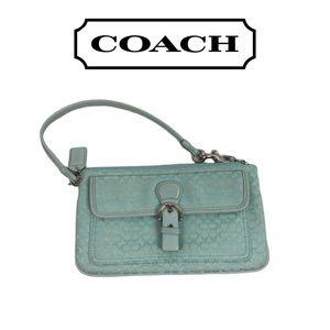 Coach Lime Green Wristlet
